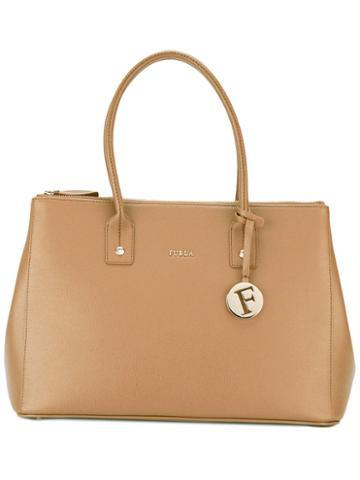 Furla Top-handle Tote, Women's, Brown, Calf Leather