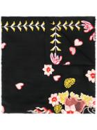 Temperley London Rosy Embroidered Shawl - Black