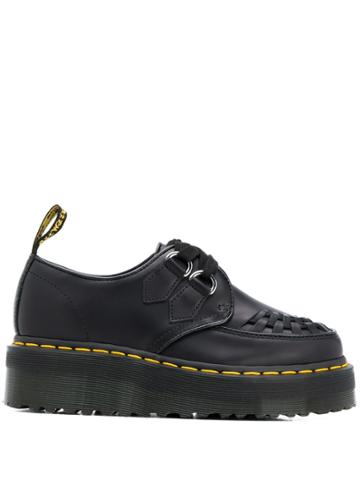 Dr. Martens Woven Detailed Platform Shoes - Black