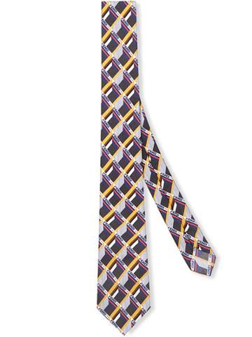 Fendi Cube Print Twill Tie - Multicolour