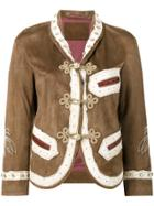 Gucci Embroidered Jacket - Brown
