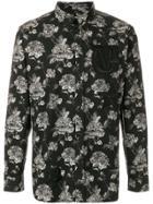 Givenchy Floral Print Shirt - Black