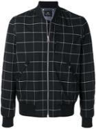 Ps Paul Smith Check Print Bomber Jacket - Black