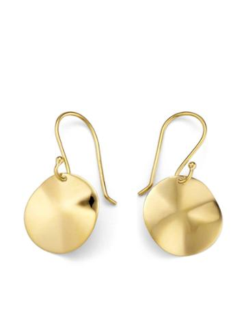 Ippolita Wavy Disc Earrings - Gold