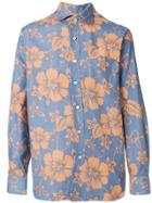 Doppiaa Floral Print Shirt - Blue