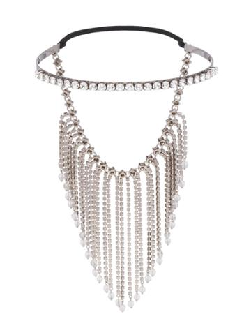 Miu Miu Fringed Crystal Tiara - Metallic