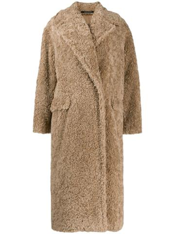 Tagliatore Shearling Coat - Neutrals