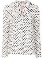 Marc Cain Patterned Blouse - White