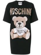 Moschino Cardboard Teddy Print Dress - Black
