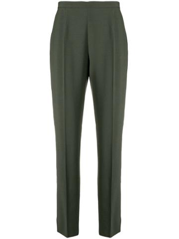 Moschino Vintage High Rise Tailored Trousers - Green