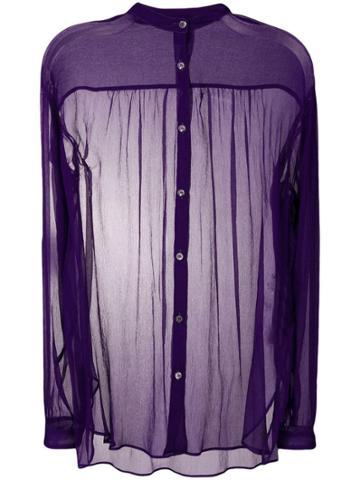 Aspesi Sheer Blouse - Purple