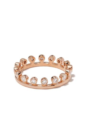 De Beers 18kt Rose Gold Dewdrop Diamond One Line Band