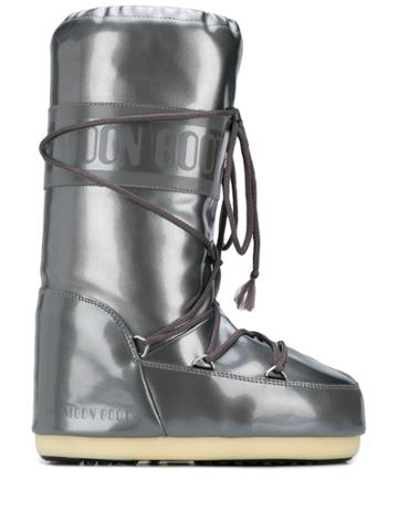 Moon Boot Tall Snow Boots - Silver