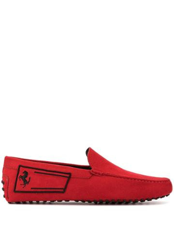 Tod's Logo Detail Loafers - Red