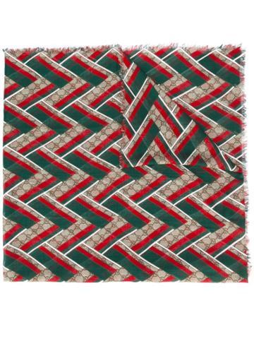 Gucci Gg Chevron Scarf - Multicolour