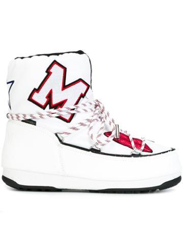 Msgm Msgm X Moon Boot Apres-ski Boots, White, Nylon/polyamide/polyurethane/rubber