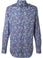Etro Floral Grid Print Shirt