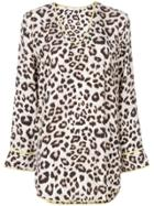 Equipment Leopard Print Blouse - Nude & Neutrals
