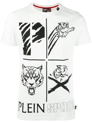 Plein Sport Ogawa T-shirt, Men's, Size: Xl, White, Cotton