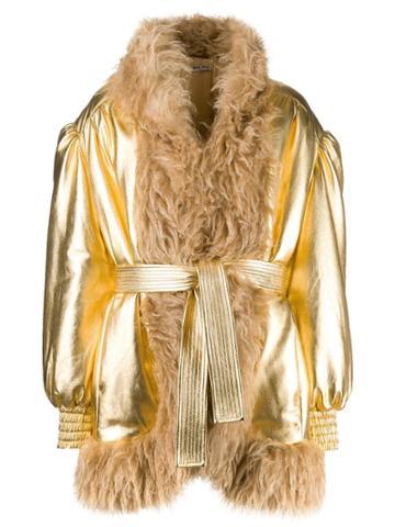 Miu Miu Miu Miu - Woman - Jacket Gold