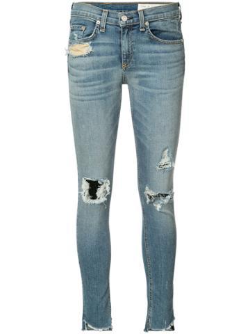 Rag & Bone /jean Distressed Skinny Jeans - Blue