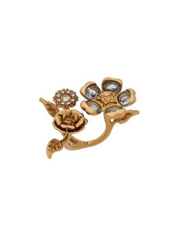 Versace V-floral Garden Ring - Gold
