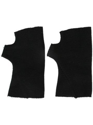 Ma+ Fingerless Gloves, Men's, Size: Medium, Black, Cashmere/virgin Wool