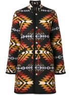 Jessie Western Reversible Blanket Coat - Black