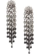 Oscar De La Renta Crystal Cascade Waterfall Earrings - Metallic