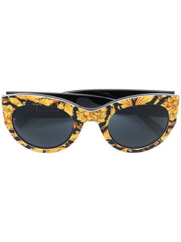 Versace Eyewear Baroque Print Sunglasses - Yellow & Orange