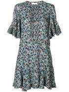 Chloé Floral-print Dress - Blue