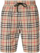 Burberry Vintage Check Drawcord Swim Shorts - Brown
