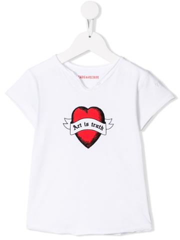 Zadig & Voltaire Kids Art Is Truth T-shirt - White