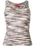 Missoni Patterned Knit Vest Top - Black