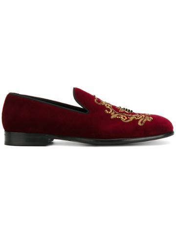 Dolce & Gabbana Milano Slippers - Pink & Purple