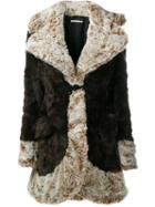 Alessandra Rich Faux Fur Coat