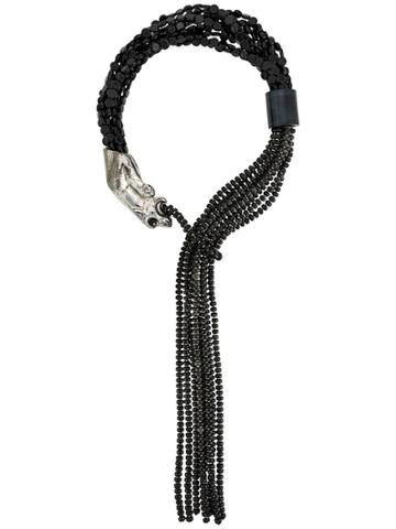 Giorgio Armani Pre-owned 2000s Beaded Creature Necklace - Black
