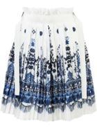 Sacai Patterned Skirt - White