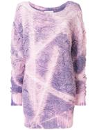 Faith Connexion Gradient Embroidered Sweater - Pink & Purple