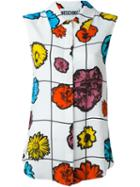 Moschino Floral Print Sleeveless Blouse