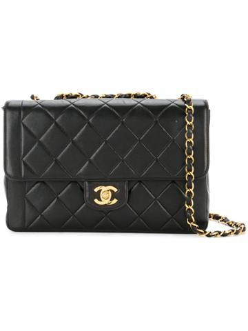 Chanel Vintage Edge Design Matelasse Stitch Bag - Black