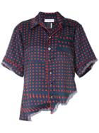 Facetasm Dotted Asymmetric Shirt - Blue