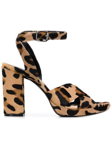 P.a.r.o.s.h. Leopard Print Sandals - Neutrals
