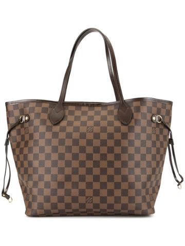 Louis Vuitton Vintage Neverfull Mm Shoulder Tote Bag - Brown