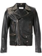 Saint Laurent Multi-stud Biker Jacket - Black