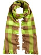 Burberry Fringed Check Scarf - Brown