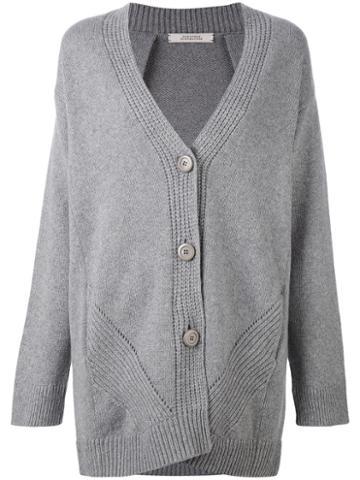 Dorothee Schumacher - Oversized Cardigan - Women - Cashmere/mohair/virgin Wool - 6, Grey, Cashmere/mohair/virgin Wool