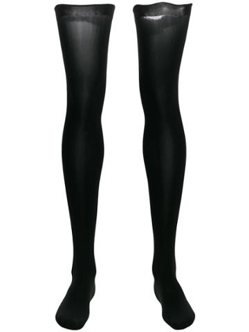 Wolford Fatal 80 Seamless Stay-ups - Black