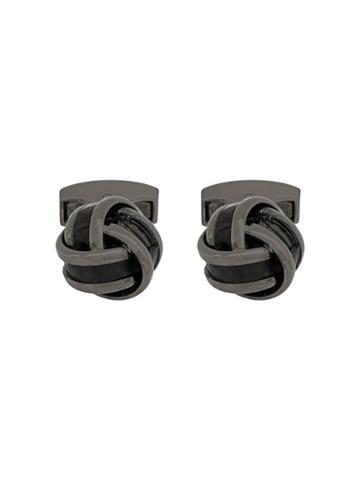 Rt By Tate Tateossian Knot Cufflinks - Black