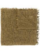 Faliero Sarti Fringed Knit Scarf - Yellow